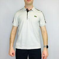 Vintage Lacoste Sport Polo Shirt Medium Beige Short Sleeve