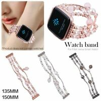 luxury noble fashion Jewelry Women strap for Fitbit versa smart watch Band