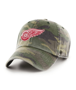 Detroit Red Wings 47 Brand Clean Up Camo Adjustable Strap Cotton Hat Dad Cap NHL