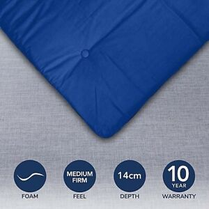 Blue Mito Kyoto Futon Mattress Versatile Sleeping Bed Comfort Thick Decor #NG