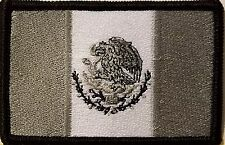 MEXICO Flag Iron-On Patch Tactical Morale MEXICAN Emblem Black Border Version I