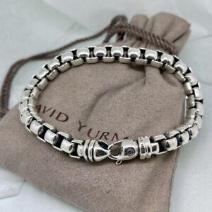 David Yurman thick square chain silver cool bracelet