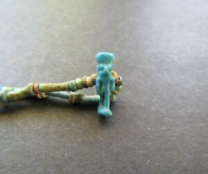 NILE Ancient Egyptian Horus Amulet Mummy Bead Necklace ca 1000 BC