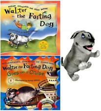 WALTER THE FARTING DOG Gift Collection 2 Hardcover Titles WITH Walter PLUSH TOY