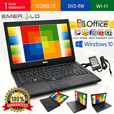 DELL LATITUDE LAPTOP OFFICE WINDOWS 10 WIN INTEL i5 8GB 320GB WEBCAM COMPUTER PC