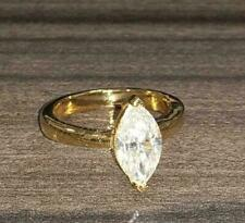 2Ct Marquise Cut Diamond Solitaire Lovely Engagement Ring 14K Yellow Gold Finish