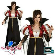 LADIES ROYAL VAMPIRESS COSTUME Womens Halloween Vampire Fancy Dress Outfit