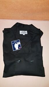 Ritz Pro Series Double Breasted Chefs Jacket's Black  Sz L 45% Poly 55% Cotton