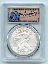 2012 (S) $1 American Silver Eagle 1oz Dollar PCGS MS70 Leonard Buckley