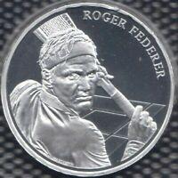 Roger Federer 20 Swiss Francs Fr Silver Coin unc Switzerland CHF commemorative