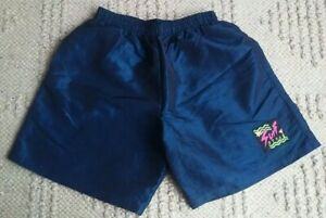 Vintage 90s Surf style swim trunks iridescent blue large shorts L