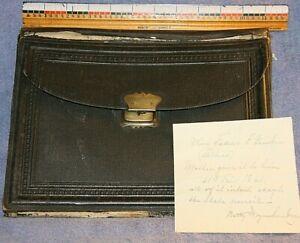 ANTIQUE 1861 TRAVELING DESK SET