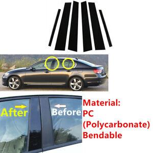 Fit For Lexus GS S19 2006-2011 Door Pillar Cover Trim Piano Posts Black 6Pc Set