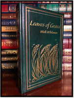 Leaves Of Grass by Walt Whitman Brand New Leather Bound Hardback Gift Edition