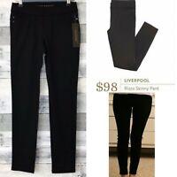STITCH FIX Liverpool Jeans Co Womens RIZZO Black Stretch Skinny Pants Size XS