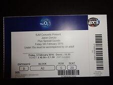 Jason Derulo Used Concert Ticket - O2 Arena London 5 Februay 2016
