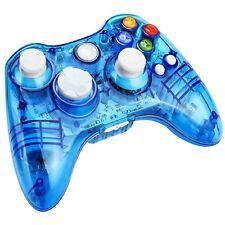 Kycola PC Xbox 360 Wireless Transparent Gamepad LED Controller Joystick Blue