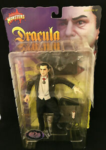"""Must See! Dracula Lugosi 8"""" Sideshow Universal Monsters 2001 RARE draw string!"""