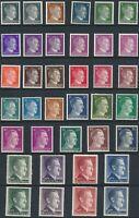 Stamp Germany Mi 781-802A B Sc 506-27 1941 WW2 War Era Hitler Definitive Set MNH
