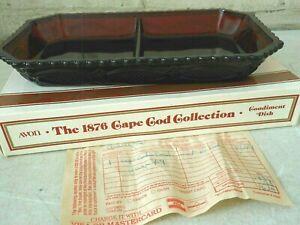 NIB Avon ~ The 1876 Cape Cod Collection Divided Condiment Dish