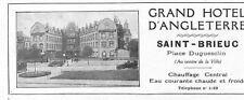 "SAINT-BRIEUC (22) "" GRAND HOTEL D' ANGLETERRE "" PUBLICITE 1926"
