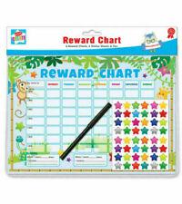 A4 Kids Create Jungle Theme Children's Reward 6 Charts 6 Stickers sheets & Pen