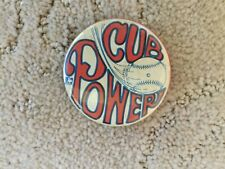 """RARE Vintage 2 1/4"""" 1969 Chicago Cubs """"Cub Power"""" Official MLBPC Pin Back Button"""