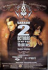 LACRIMOSA 2010 LARGE SANTIAGO, CHILE CONCERT TOUR POSTER - Gothic Metal Music
