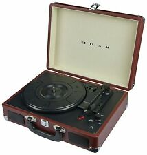 Bush Classic Turntable Brown  Headphone socket