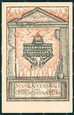 Militari Fascismo Scuola Centrale Genio Civitavecchia Saltini cartolina XF3690