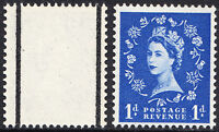 GB QEII 1958 1d Ultramarine 2nd Graphite Wilding Issue SG588