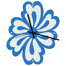 Euphyllia-Tempus Flower Wall Clock Blue/White 28cm (e9595blu)