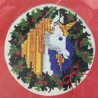 Vintage Enchanted Unicorn Card Embroidery Crewel Kit The Creative Circle NEW