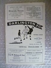 1969 DARLINGTON v CHESTER, 4th Oct