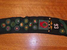 Vintage Girl Sash / Scout Patches Rare Lot Merit Badges Pins Sash Ind.