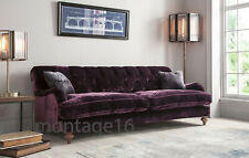 Kingston Classic Grand Button Back Velvet Fabric Sofa (colours)