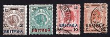 Eritrea Italian 1922 Group of stamps MI#57-60 MH,Used CV=21.6€