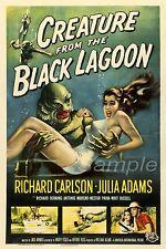 BL02 Vintage criatura de la Laguna Negra Movie Poster A3 impresión