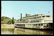 vintage stern wheeler steam boat Gordon C.Greene ship Hannibal Missouri postcard
