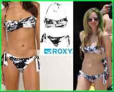 Roxy 2 pc Wild Paradise Bandeau Top Retro Tie Side Bikini Avril Lavigne Large L