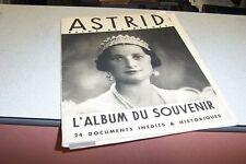 ASTRID REINE DES BELGES L ALBUM DU SOUVENIR 24 documents inédits et historiques