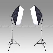 Photography Photo Studio Lighting 2x (Softbox+Light Stand+plug) +Bag 50*70cm