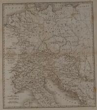 MAPPA GERMANIA GERMANY NORTHERN ITALY MAP DEUTSCHLAND 1790