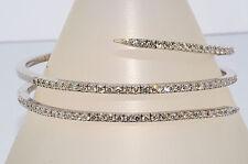 $34,000 6.67Ct Natural Diamond Swirl Bangle 18K White Gold