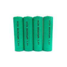 4 x AA 2A 2800mWh 1.6V Volt NiZn Rechargeable Battery Cell Power AM3 UM3 Green