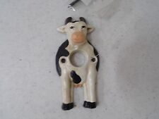 Black & White Country Cow Cast Iron Door Bell Cover for Push Button Ringers