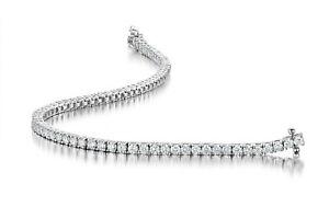 Last PC 2.25 Carat F/SI 100% Natural Round Diamond Tennis Bracelet White Gold