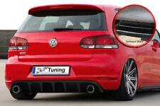 Heckeinsatz Heckansatz  Diffusor Spoiler ABS für Golf 6 GTI + GTD Schwarz Glanz
