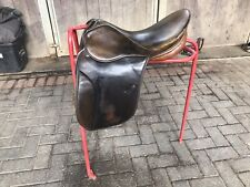 """*BROWN STUBBEN PARZIVAL SHOW SADDLE- 18.""""Stamped 31"""