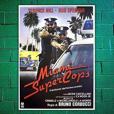 Poster Manifesto Originale Miami Super Cops Bud Spencer Terence Hill  100x140 CM